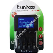 Uniross LCD Fast Intelligent Wall Charger for AA / AAA  NiMH Rechargeable Batteries