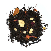 Punjabi Chai has a sweet spicy fruity flavour and contains black tea, citrus peel, rose petals, almonds, cloves, cardamom, vanilla and flavouring.