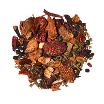 Flavoured fruit infusion including apple, elderberries, blackberry, strawberry slices, raspberry & blueberry. Delicious both hot or as an cool iced tea.