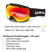 5th Element Stealth Spherical Ski Snowboard Goggles