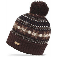 Dakine Maggie May Brown Pom Beanie Hat