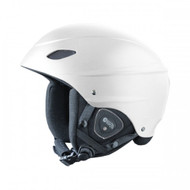 Demon Audio Phantom White Ski Snowboard Helmet