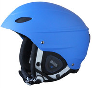 Demon Audio Phantom Blue Ski Snowboard Helmet - 2016