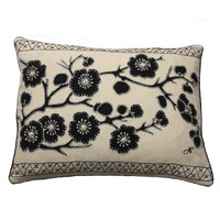 China black cherry blossom cushion