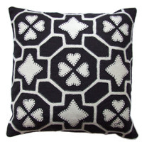 China black fretwork cushion