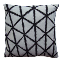 The Great Court Cushion, black and cream