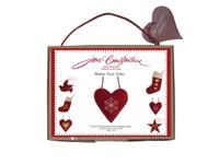 Christmas snowflake heart craft kit, red wool