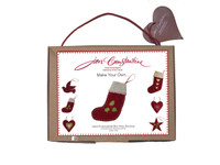 Small Holly Christmas stocking craft kit