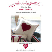 Stitch your own heart cushion