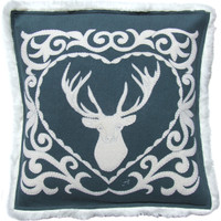 Nordic Grey Stag Cushion