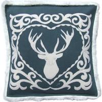 Nordic Grey Stag Cushion