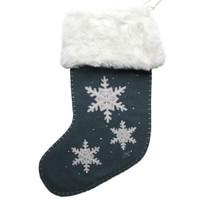Nordic Grey Snowflake Stocking