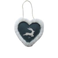 Nordic Grey Reindeer Spice Heart
