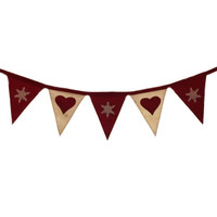 Nordic Red Snowflake Bunting