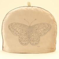 Velvet Butterfly Tea Cosy (Cream)