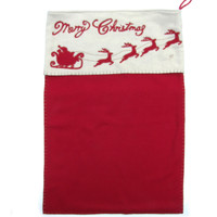 Christmas Santa Sack (Red & Gold)