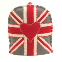 Union Jack Coffee Cosy (Grey)