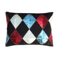 Sequin Harlequin Cushion (Multi)
