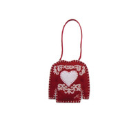 Heart Christmas Jumper Decoration (Red)