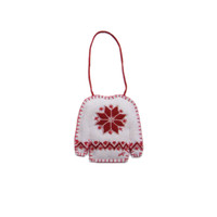 Star Christmas Jumper Decoration (Cream)