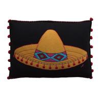 Fiesta Sombrero Cushion (Black)