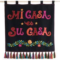 Fiesta Mi Casa es Su Casa Wall Hanging (Black)