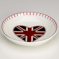 Union Jack heart small dish, bone china