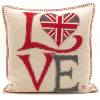 Fab Love cushion. Designer styling by Jan Constantine