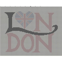 Love London tapestry chart