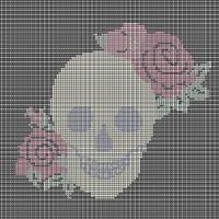 Rose skull tapestry chart