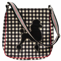 Poodle black gingham bag