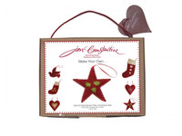 Holly star Christmas craft kit, red wool