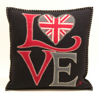 Luxury Fab Love Cushion from designer Jan Constantine