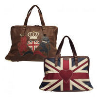 Union Jack heart overnight bag