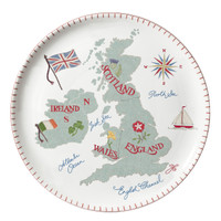 British Isles Large Plate