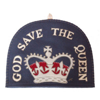 God Save The Queen Tea Cosy (Red Crown)