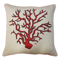 Coral Cushion (Cream)