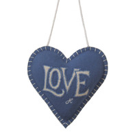 Love lavender heart, cream and blue
