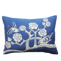 Blue Love Birds Cushion