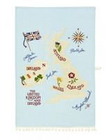 British Isles Tea Towel