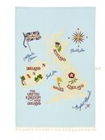 British Isles Tea Towel