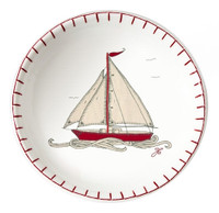 Seaside boat designer small dish, bone china