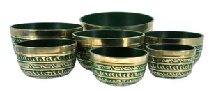 Green Seven Chakras Singing Bowl Set
