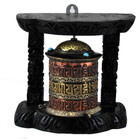Wall-Mounted Prayer Wheel Handmade from Copper and Brass
