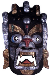 Black Himalayan Wood Mask