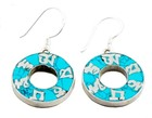 Turquoise Om Mantra Earrings