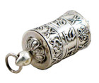 Sterling Silver Prayer Wheel Pendant