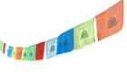 Neon Buddhist Prayer Flags, 20 Feet Long