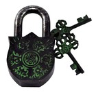 Tibetan Lock with Om Mani Padme Hum