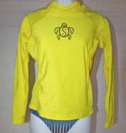 Women's Long Sleeve Yellow Honu Rash Guard